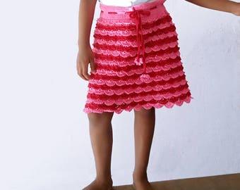 Hand knitted crochet skirt
