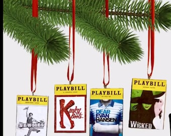 Broadway Playbill Ornaments