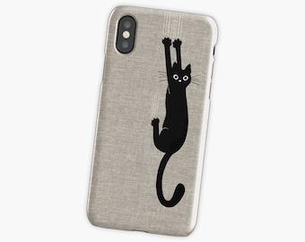 Black Cat Holding  phone case iPhone 7 plus case Black Cat galaxy s8 iPhone 6s iPhone 7 case iPhone 6 case iPhone7 plus case iPhone 8