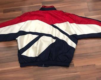 Vintage 90s Reebok big logo track jacket Olympic colorway
