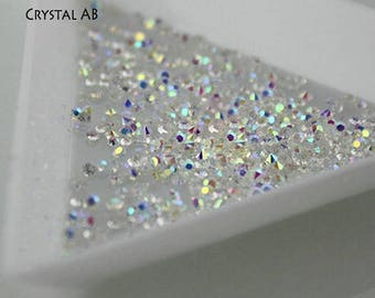 Swarovski crystal Pixie 3D - 1 000 pcs nail art Micro Zircon Mini Rhinestone stones gems crystals charms beads Clear or Crystals AB