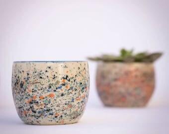 Handmade ceramic tumbler, pottery tumbler, wheel-thrown tumbler, tableware, blue
