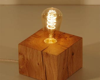 OPIMONT lamp in solid oak