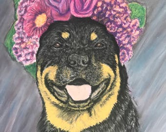 Rottweiler Flowers