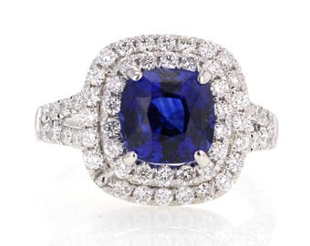 Sapphire and 18k gold ring
