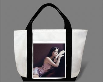 Dakota Johnson Jamie Dornan Canvas Tote Bag #0014