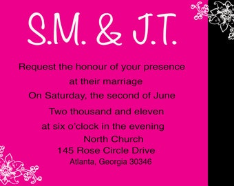 Me + You Invitation