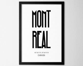Célèbre Montreal poster | Etsy XM49