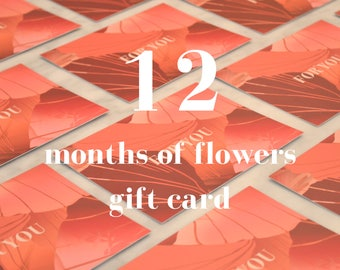 Gift card - 12 months of letterbox stems