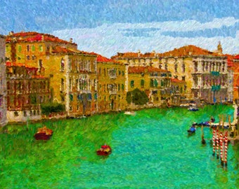 Grand Canal, Venice 11 x 14 Canvas Print