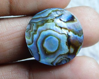 Top quality Abalone Shell Cabochons 100%Natural Abalone shell Natural Loose shell Gorgeous Loose 21.00Cts, (21x21x5)mm.
