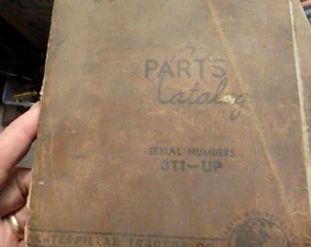 1963 Caterpillar D7  tractor parts catalog-illustrated