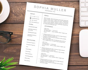 resume template basic resume professional resume modern resume creative resumecover - Cover Letter And Resume Template