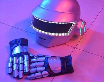 Daft Punk Helmet and Gloves
