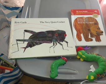 Eric Carle books and Hungry Catipilare toy