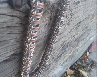 Fire Wyrm chain - Stainless and Copper