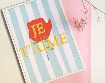 Valentine's card JE T'AIME