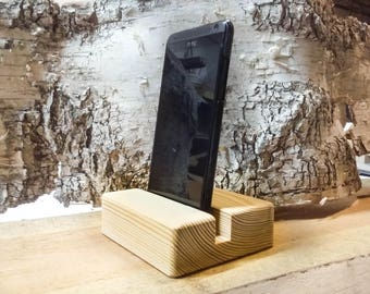 Wood iPhone Stand Wooden iPhone wood samsung stand stand for iPhone 6s, iPhone 7