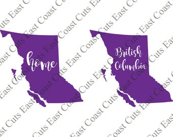 British Columbia SVG/DXF/PNG