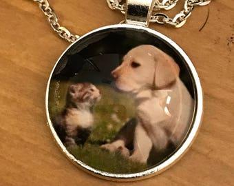 Puppy & Kitten Pendant