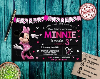 disney invitation,minnie mouse,minnie mouse invitations,minnie mouse birthday,minnie mouse birthday invitation,minnie mouse invitation card