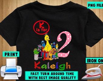 Sesame Street Iron On Transfer / Sesame Street Birthday Shirt Design / Sesame Street Personalize DIY Shirt / DIY Shirt / Digital Files