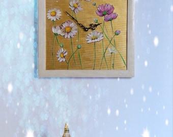 Flowers on golden base