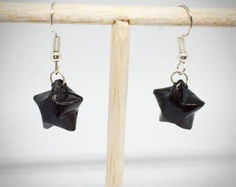 Boucles d'oreilles étoiles en origami