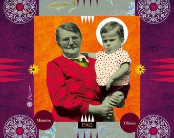 FAMILY, Digital art, Digital Art, icon, print, Illustration, frame for frame, Photo, gift, family, memory