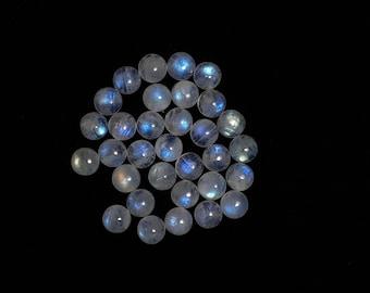 Top Quality!!!! Rainbow moonstone Round shape Cabochone Blue fire Moonstone