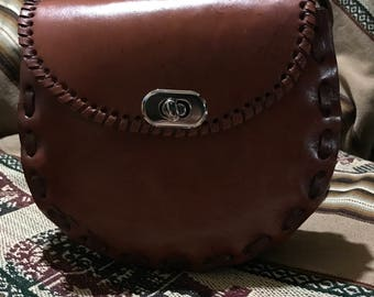 Simple leather bag [small]