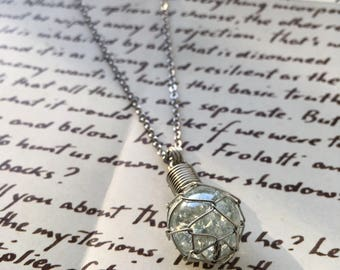 Glass Fishing Float Necklace - Clear