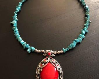 Turquoise & Red Jasper