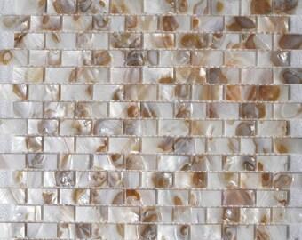 Subway Seashell pearl mosaic MOP034 Mother of pearl tile kitchen backsplash brick pearl shell tile bathroom
