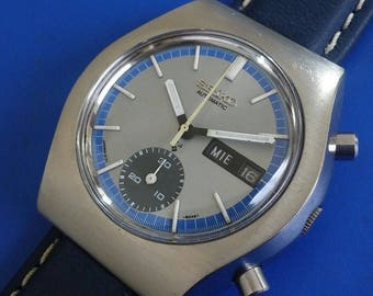 Exquisite Vintage 1970s Mans SEIKO chronograph Original Dial FULLY SERVICED!