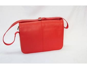 Mj Vintage - Leather Bag Red Color