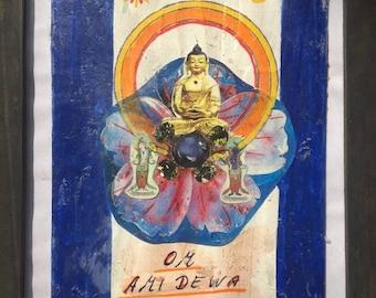 Om ami Dewa Sri-Buddha Öpame-2 small collagen