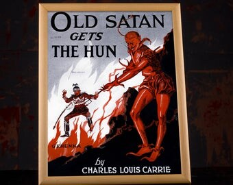 WWI Propaganda - US Propaganda Poster, ww1 poster, ww1 propaganda, ww1 memorabilia, vintage propaganda, propaganda art, ww1 ephemera, framed