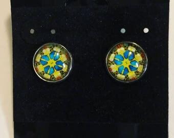 Psychedelic kaleidoscope earrings