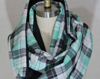 Made to Order - Plaid Green Infinity Scarf