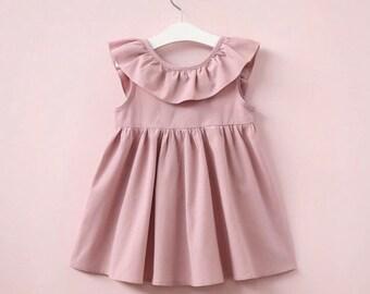 Girls sleeveless ruffled dress