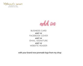 Email signature etsy add on business card premade business card template business card design facebook pronofoot35fo Images