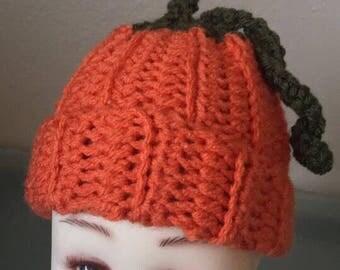 Pumpkin Baby Hat / Baby Hat / Fall Hat / Baby Shower Gift / Pumpkin Hat / Soft Baby Hat / Handmade Baby Hat / Gift for Baby / Handmade Gift