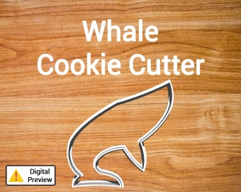 "4"" Whale Cookie Cutter (Animal Set)"