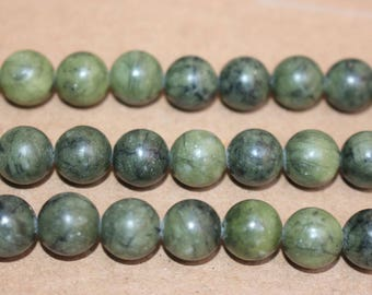15 inches Full strand,Green Jasper smooth round beads 6mm 8mm 10mm 12mm,loose beads,semi-precious stone