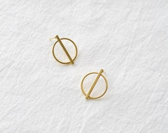 point circle earring