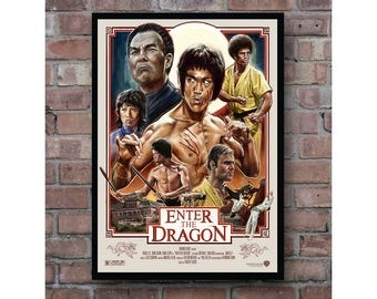 Enter The Dragon Bruce Lee Classic Kung Fu Home Decor Movie Poster
