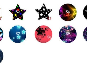 30mm Star pattern cabochon