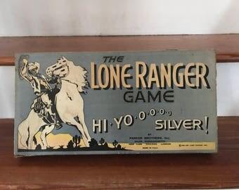 Vintage 1930s Lone Ranger Board Game