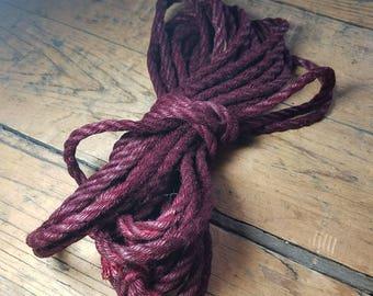 Hank Burgundy Jute rope